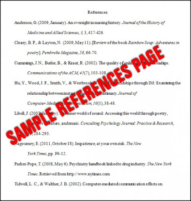 how to write references for a research paper apa style