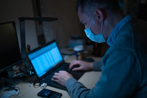 working in the office during a pandemic