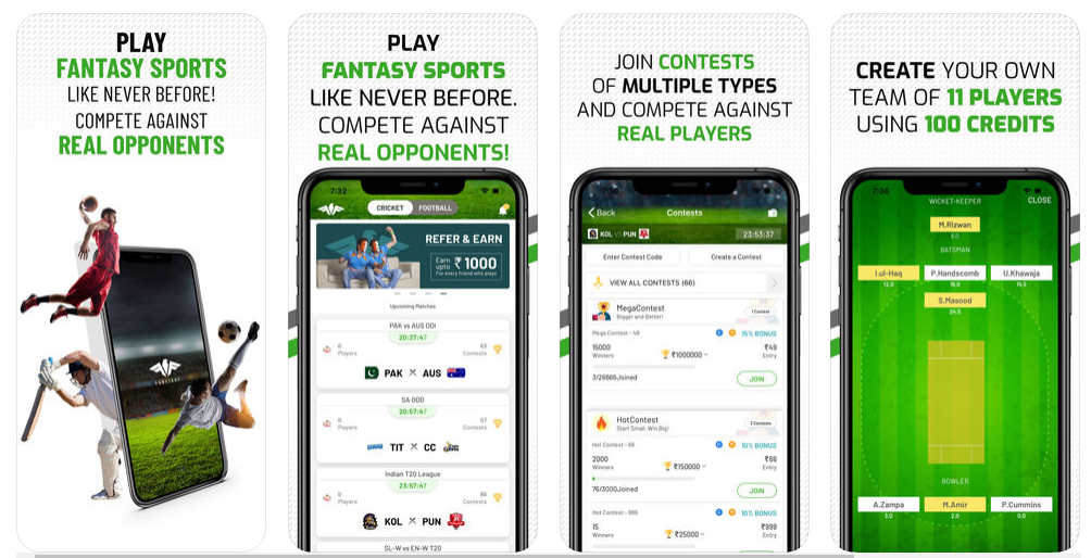 apps like Dream 11 Fanfight