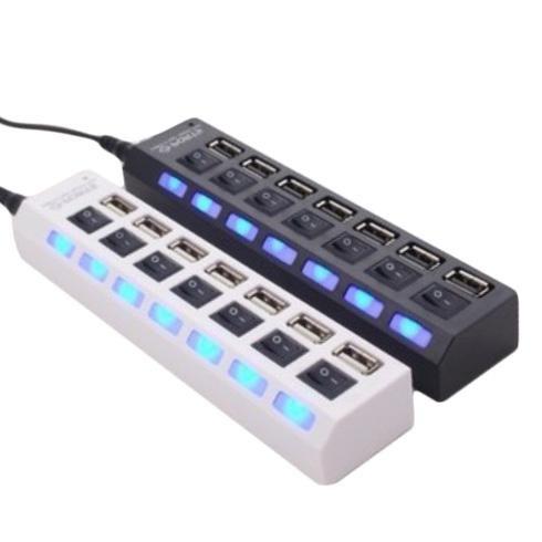 Hub USB 7 Ports en 1 LED Adaptateur USB Haute Vitesse USB 2.0 séparée Switch PC Ordinateur  Portable  www.avalonkef.com 8.jpg