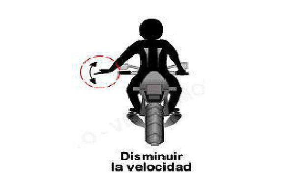 isminuir la velocidad