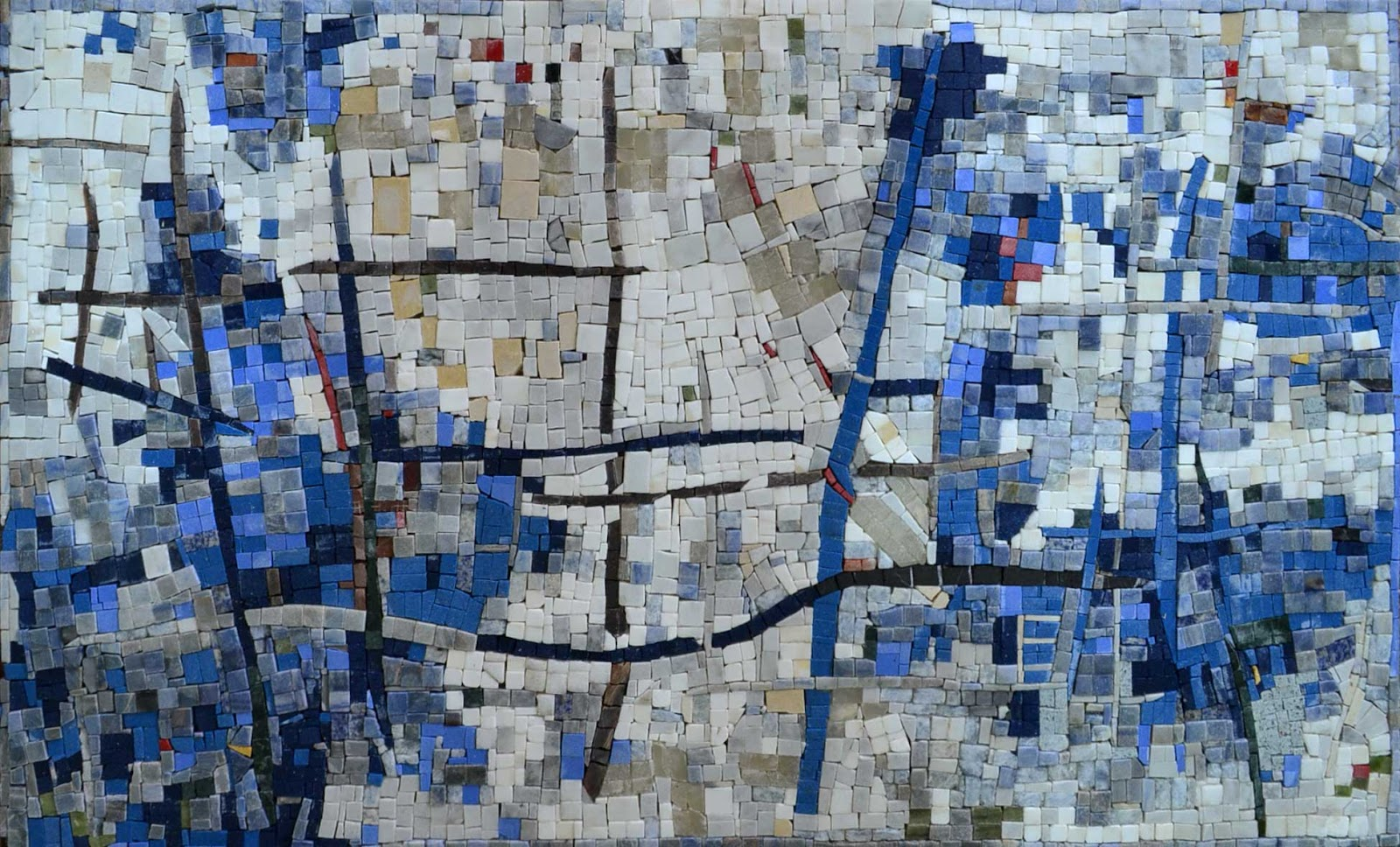 The Cycle of Water- Abstract Mosaic Art by Mozaico