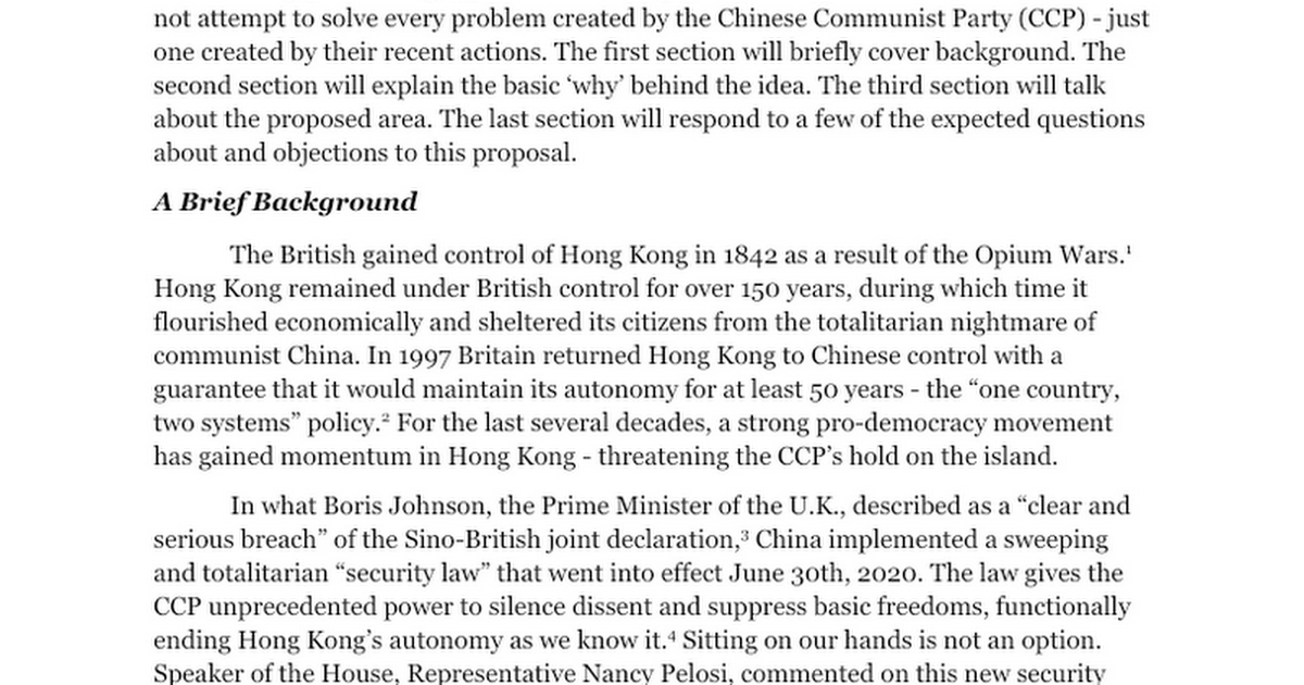 Hong Kong USA - July 4th, 2020
