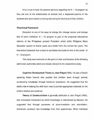 Sample Thesis Title About K To 12