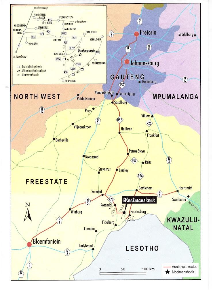 Map to Moolmanshoek LDC