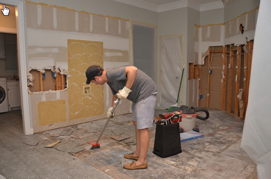 Home remodel project requiring structural engineering services