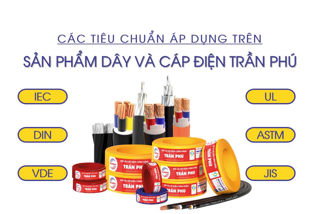 tieu chuan day cap dien duoc ap dung cho cac san pham Tran Phu