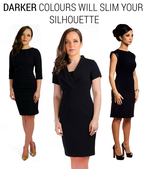 dark black colours for petite women dresses slimmer thinner