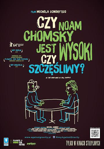 Polski plakat filmu 'Czy Noam Chomsky Jest Wysoki Czy Szczęśliwy?'