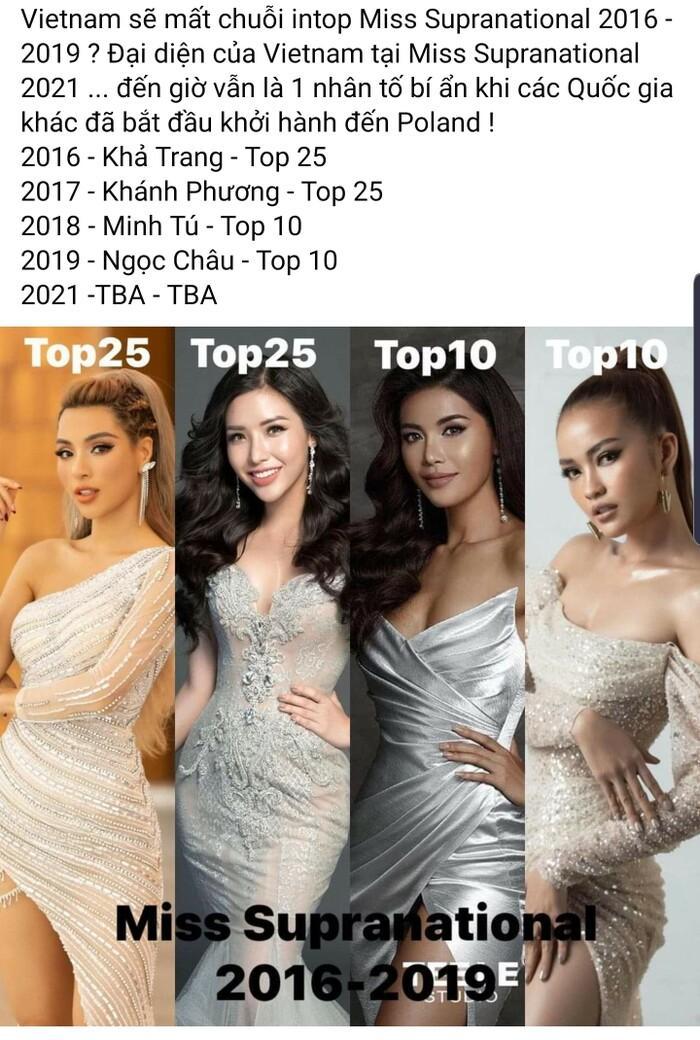 Chưa có đại diện tại Miss Supranational, Việt Nam liệu sẽ đánh mất chuỗi intop từ 2016 - 2019? Ảnh 1