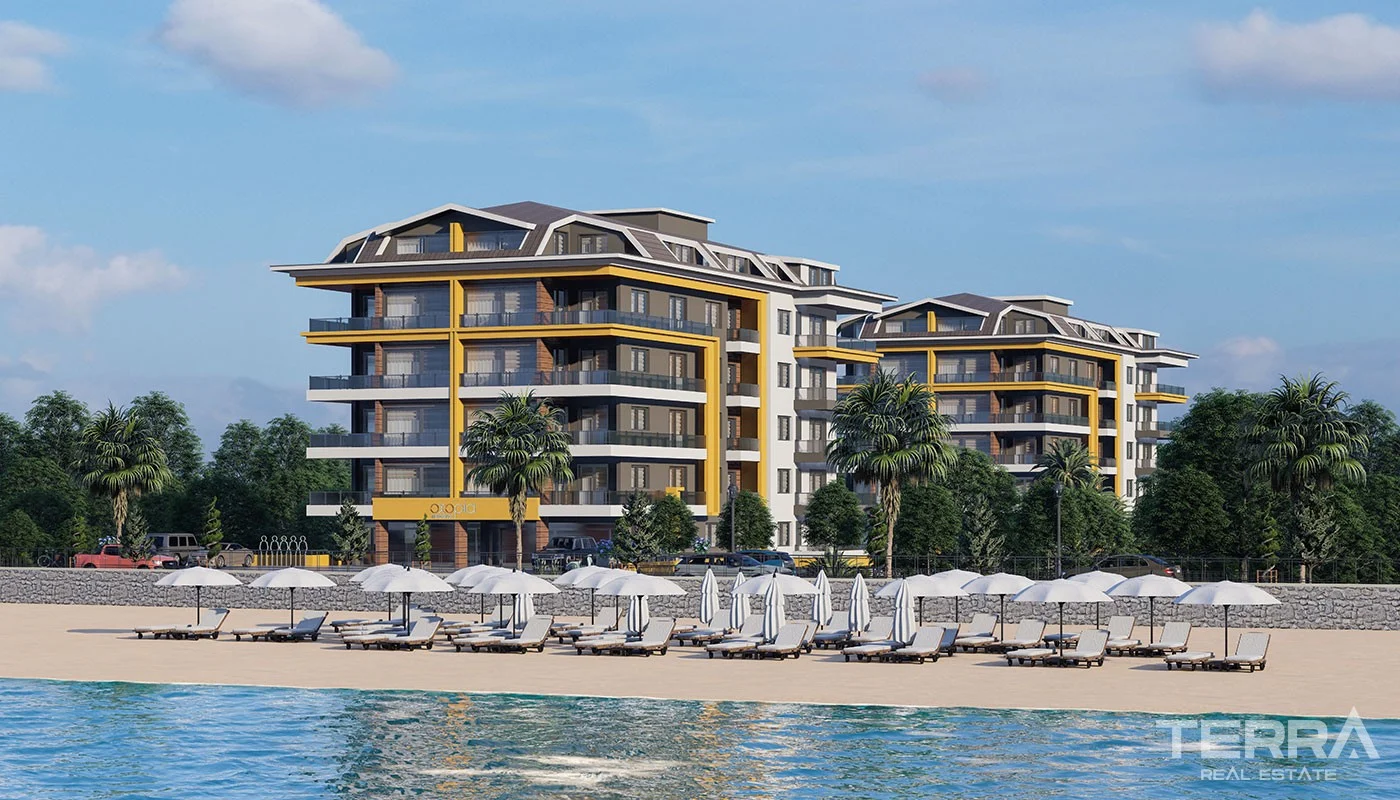 Beachfront Apartments for sale in Alanya Kestel