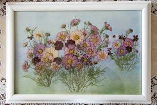 久米谷恵子師範の押し花作品