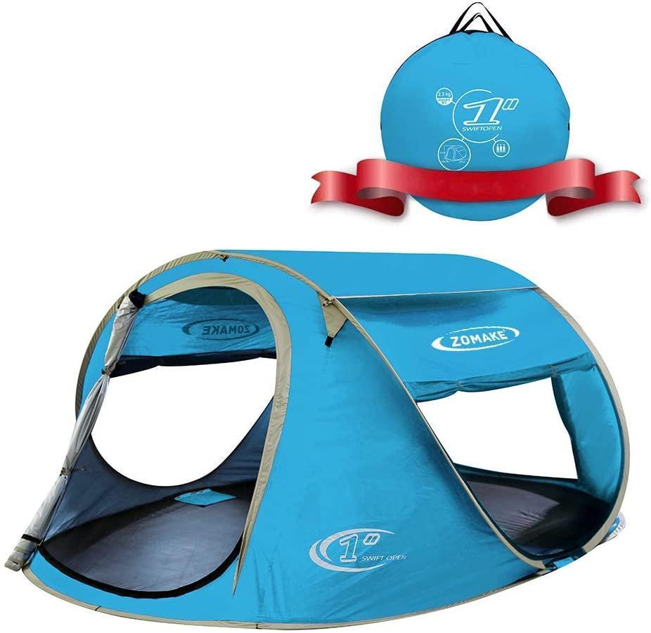 Zomake Pop-Up 4 Person beach tent