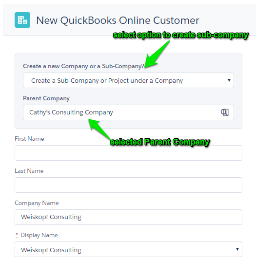 SubCompany Creation And Automatching S Breadwinner For - Quickbooks online invoicing portal features
