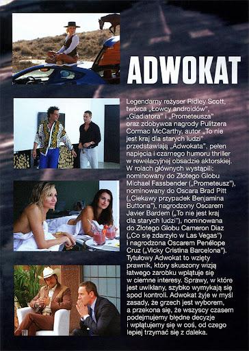 Tył ulotki filmu 'Adwokat'