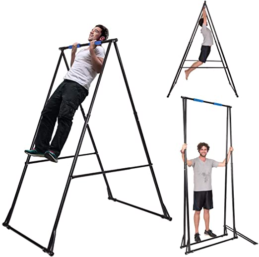 KT Mens Pull-up Bar Free Standing Pull up Stand Sturdy Frame Indoor Pull Ups Machine Equipment