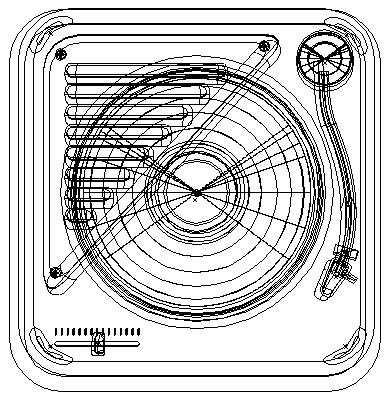 Vector Turntable Outline