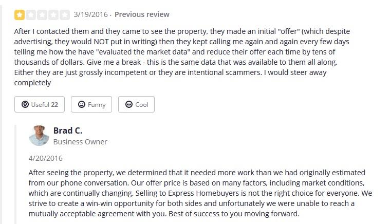homebuyer express negative review