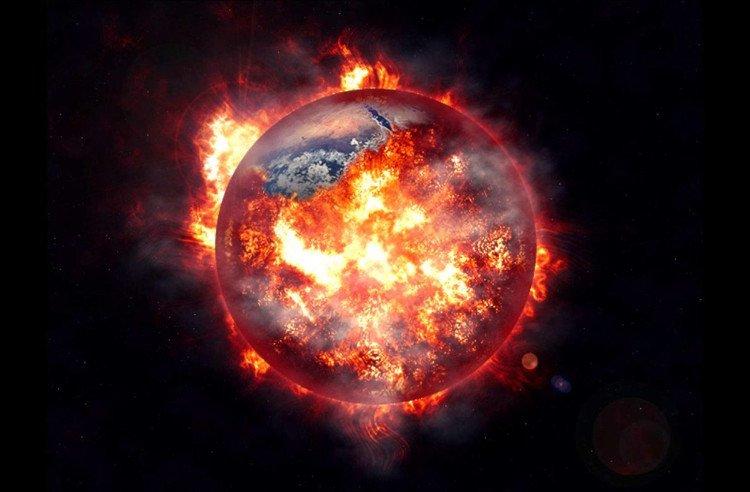 Ông Hawking tin rằng Trái đất sớm muộn sẽ biến thành quả cầu lửa khổng lồ.