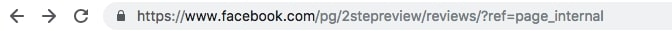 Facebook Review URL