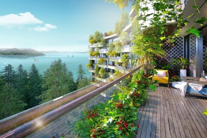 Địa hình thiên nhiên ấn tượng là lợi thế khi xây dựng cảnh quan resort
