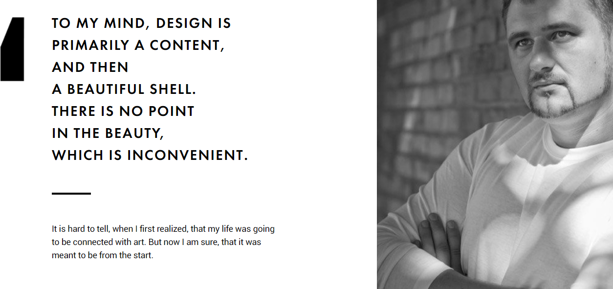 About us example for interior design website
