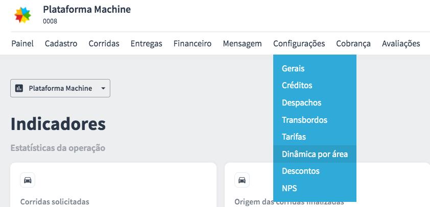 Plataforma da Machine