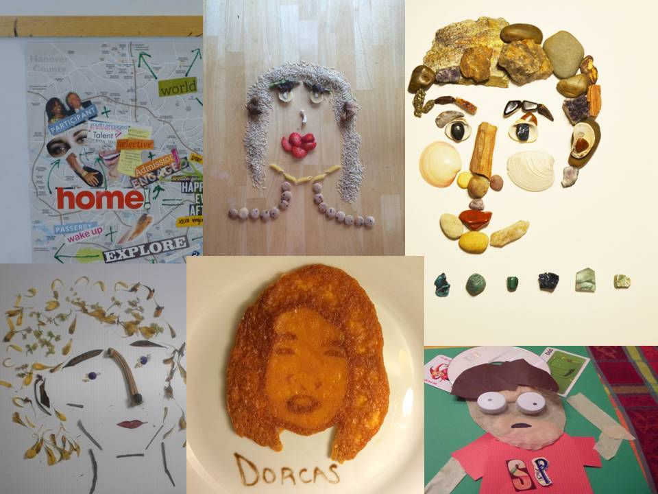 VMFA Education - Self Portrait with Found Objects Students in...