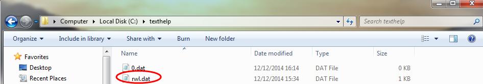 C texthelp folder