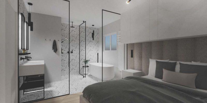 Une image contenant intérieur, mur, lit, pièce  Description générée automatiquement