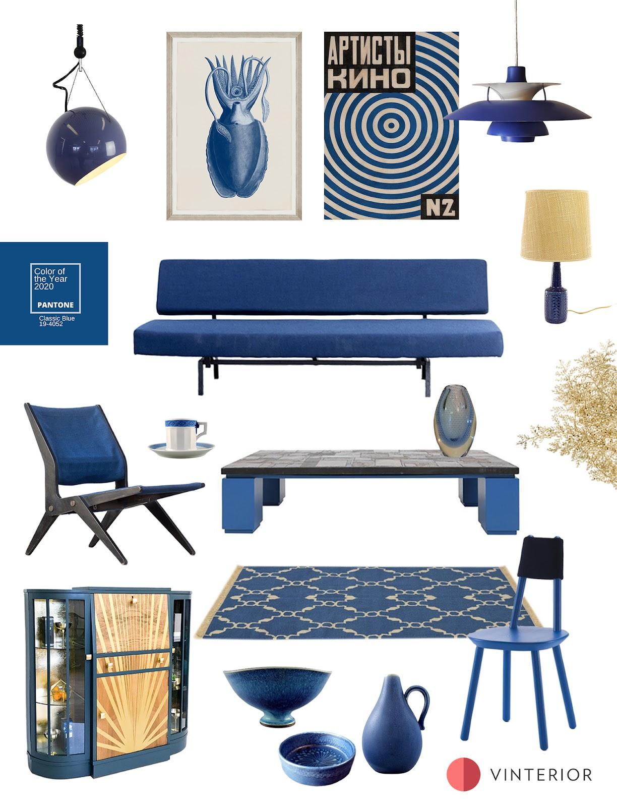 Pantone Colour of 2020: Decorating with Classic Blue | Vinterior