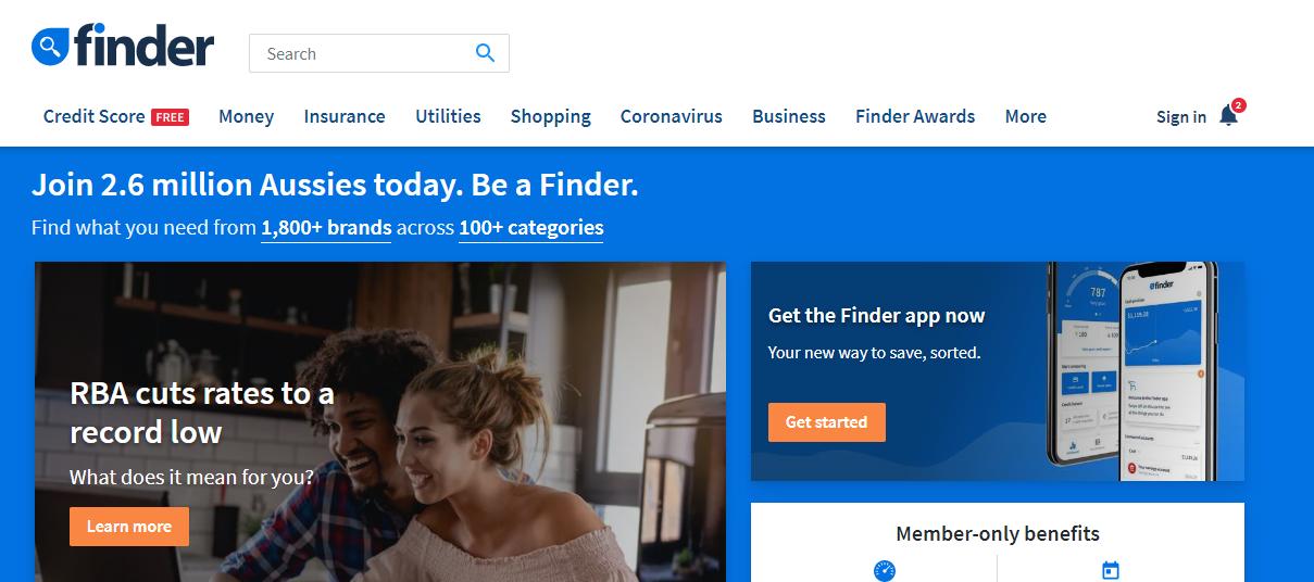 finder comparison sites