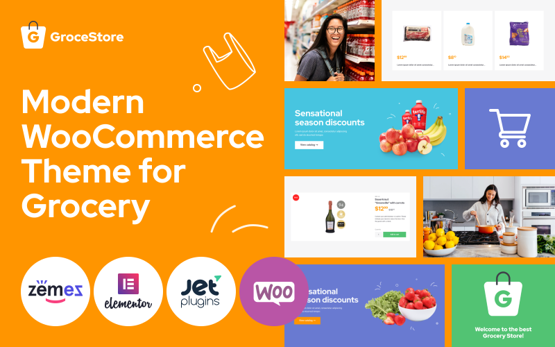 Fastest WooCommerce themes - GroceStore
