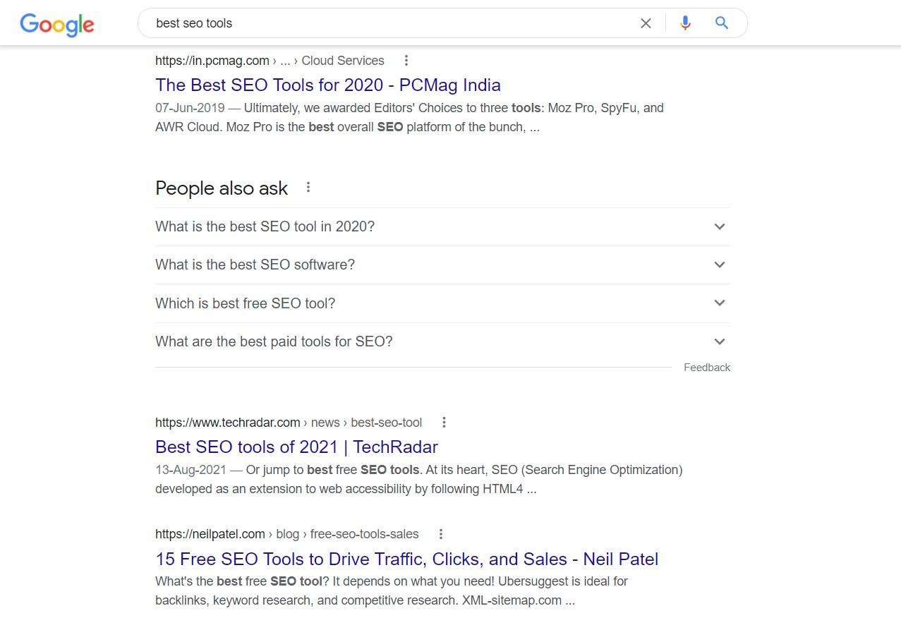 This image shows competitors' keyword research Kaise Kare.