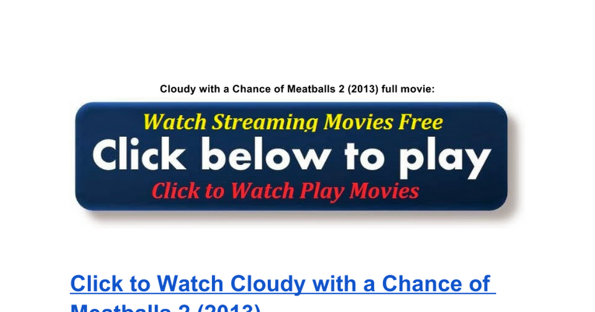 cloudy with a chance of meatballs 1 movie free download