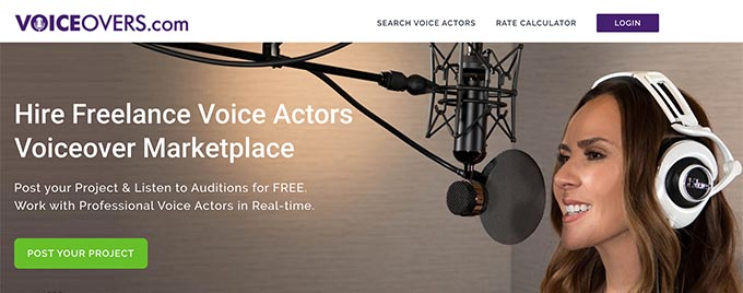 Voicovers: voice over scripts website