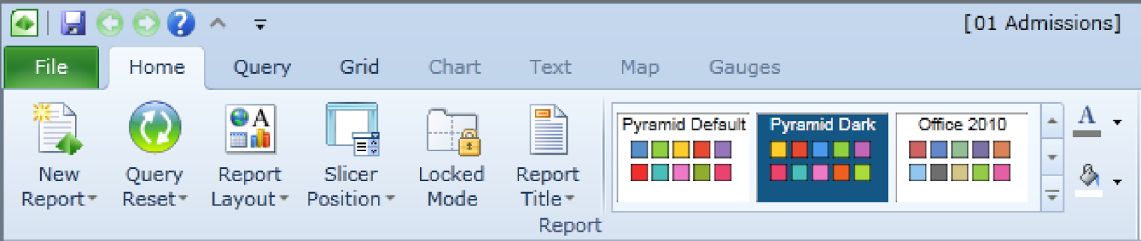 screenshot of File menu option in Excel