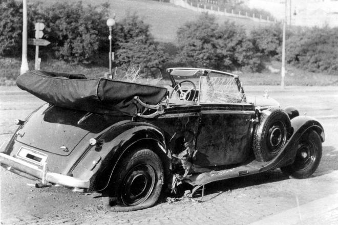 Автомобіль Гейдріха після вибуху