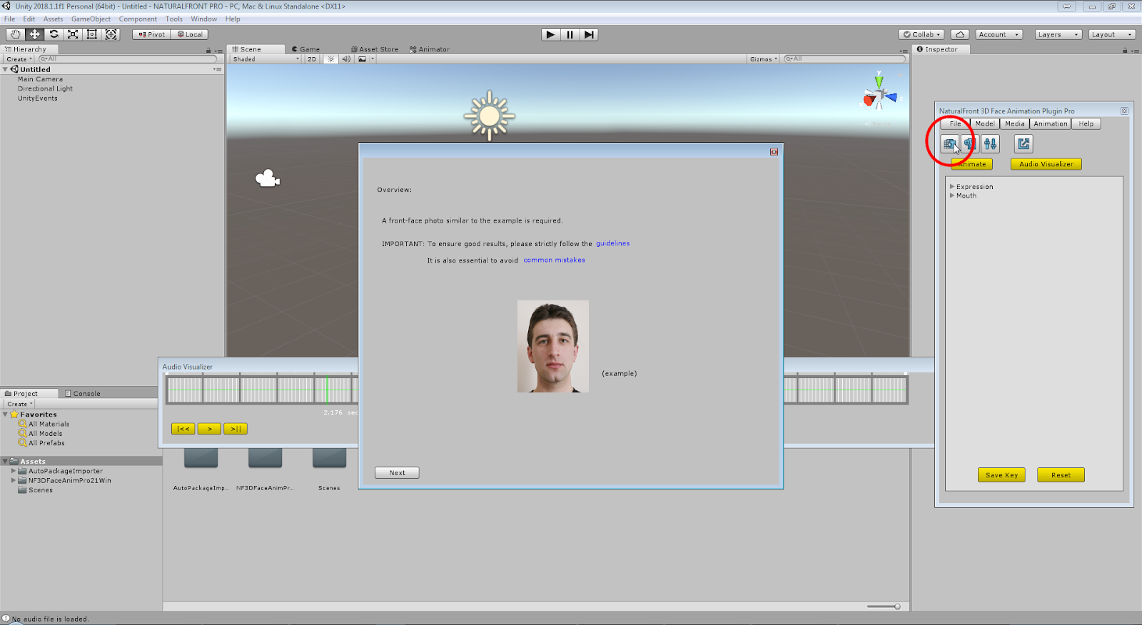 How to create, export and replay quality 3D-face-animation
