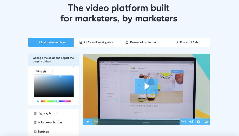 Video marketing tools - Wistia