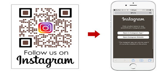 qr code do instagram
