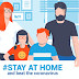 Stay at home awareness social media campaign Free Download