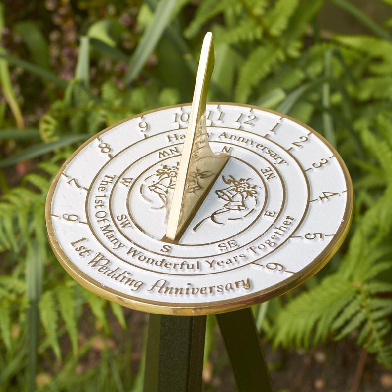 anniversary metal sundial