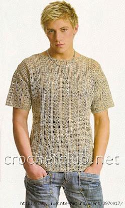 мужская футболка крючком схемы