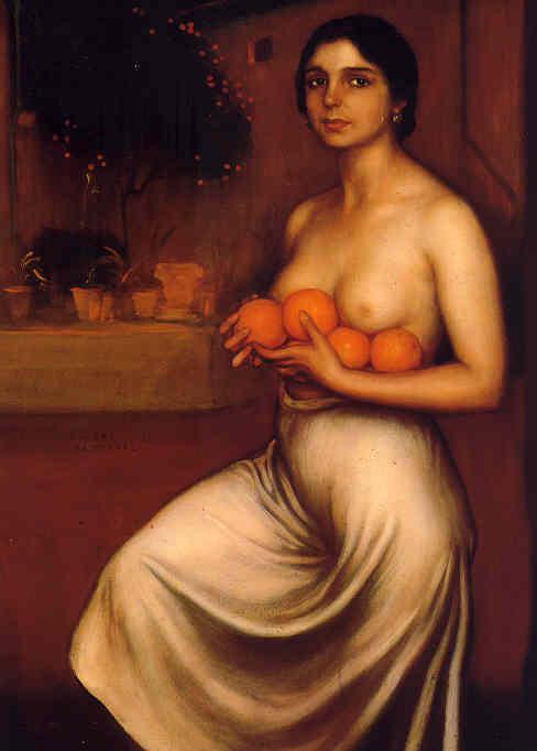 Naranjas y limones (1928). Museo Julio Romero de Torres, Córdoba