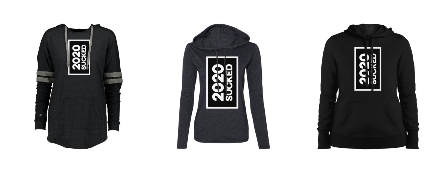 2020 Sucked | Stylish Grey and Black Hoodies