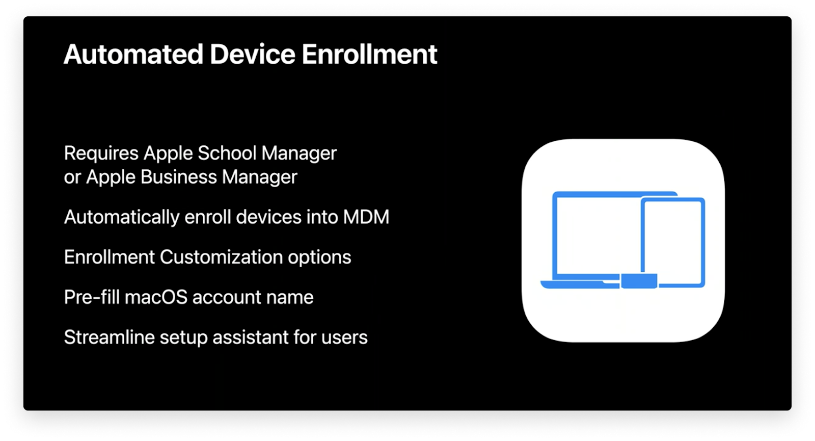 automated device enrollment for macOS Big Sur