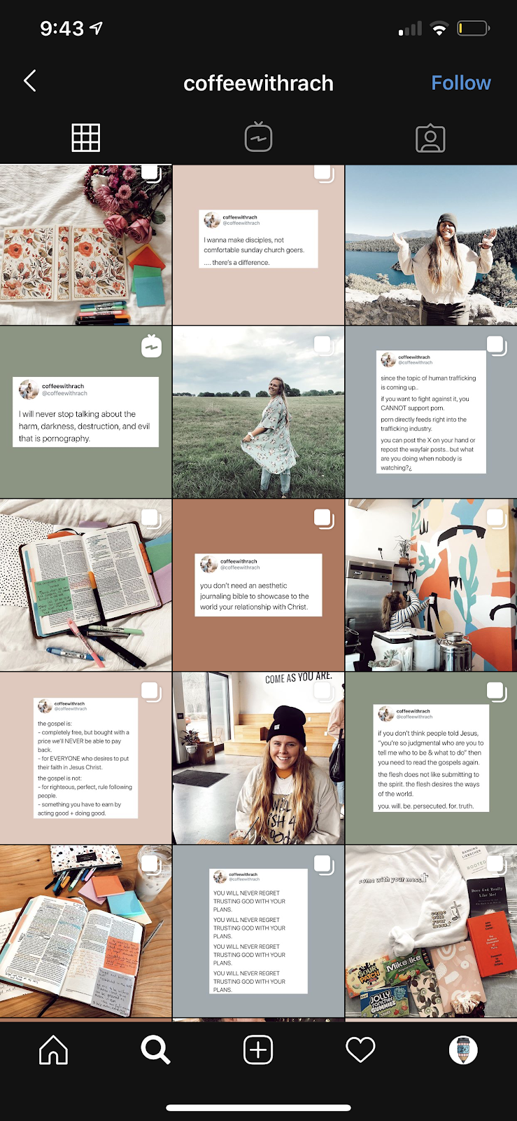repeated instagram theme