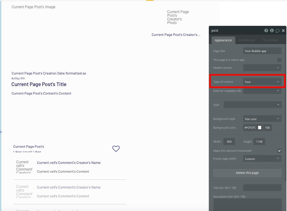 Bubble No Code Patreon Clone Post Page Tutorial