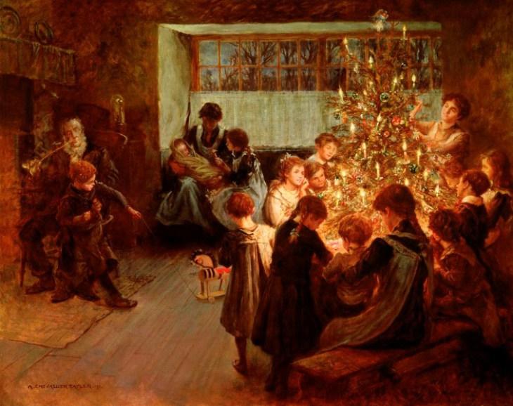 Το Χριστουγεννιάτικο Δέντρο, Albert Chevallier Tayler, 1911.jpg